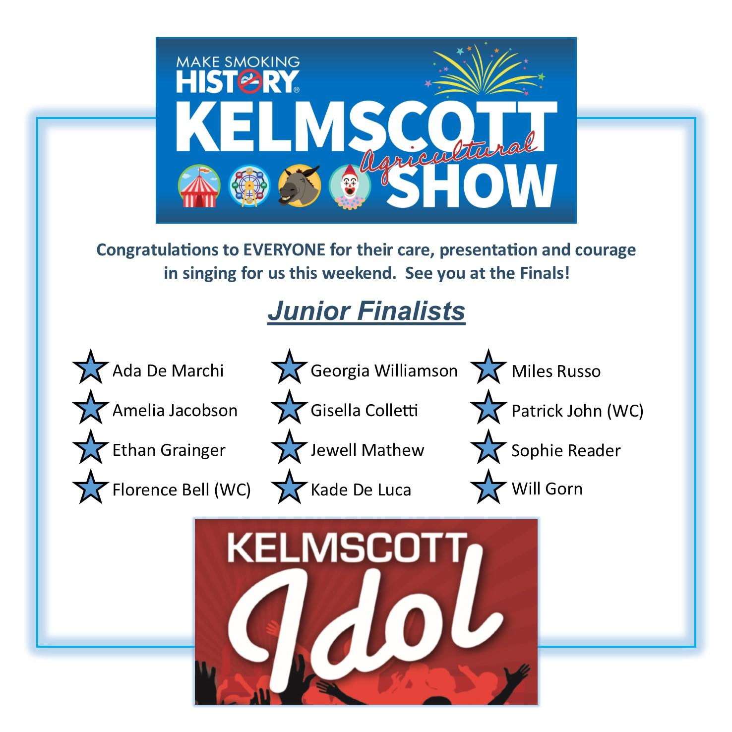 Kelmscott Idol Junior Finalists