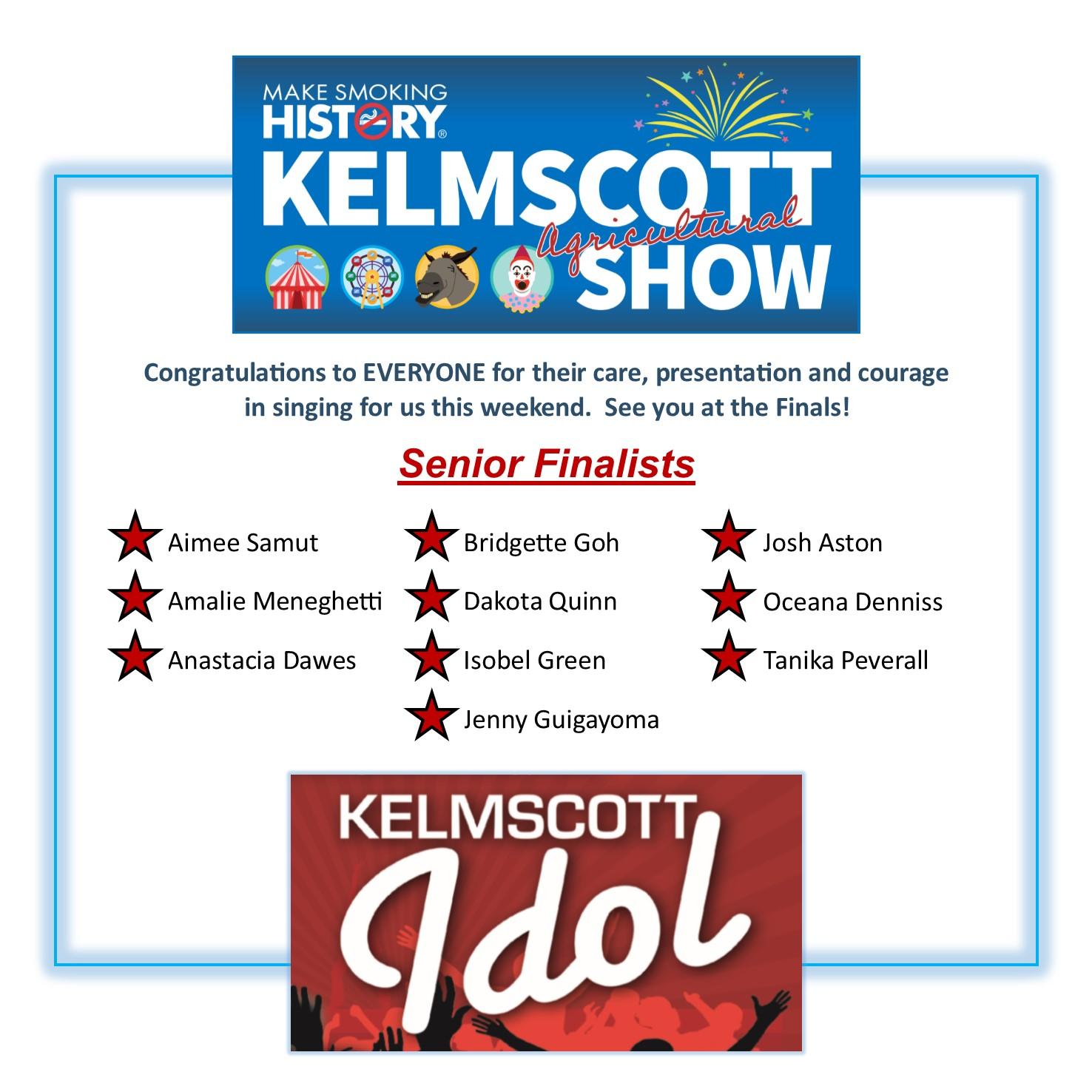 Kelmscott Idol Senior Finalists