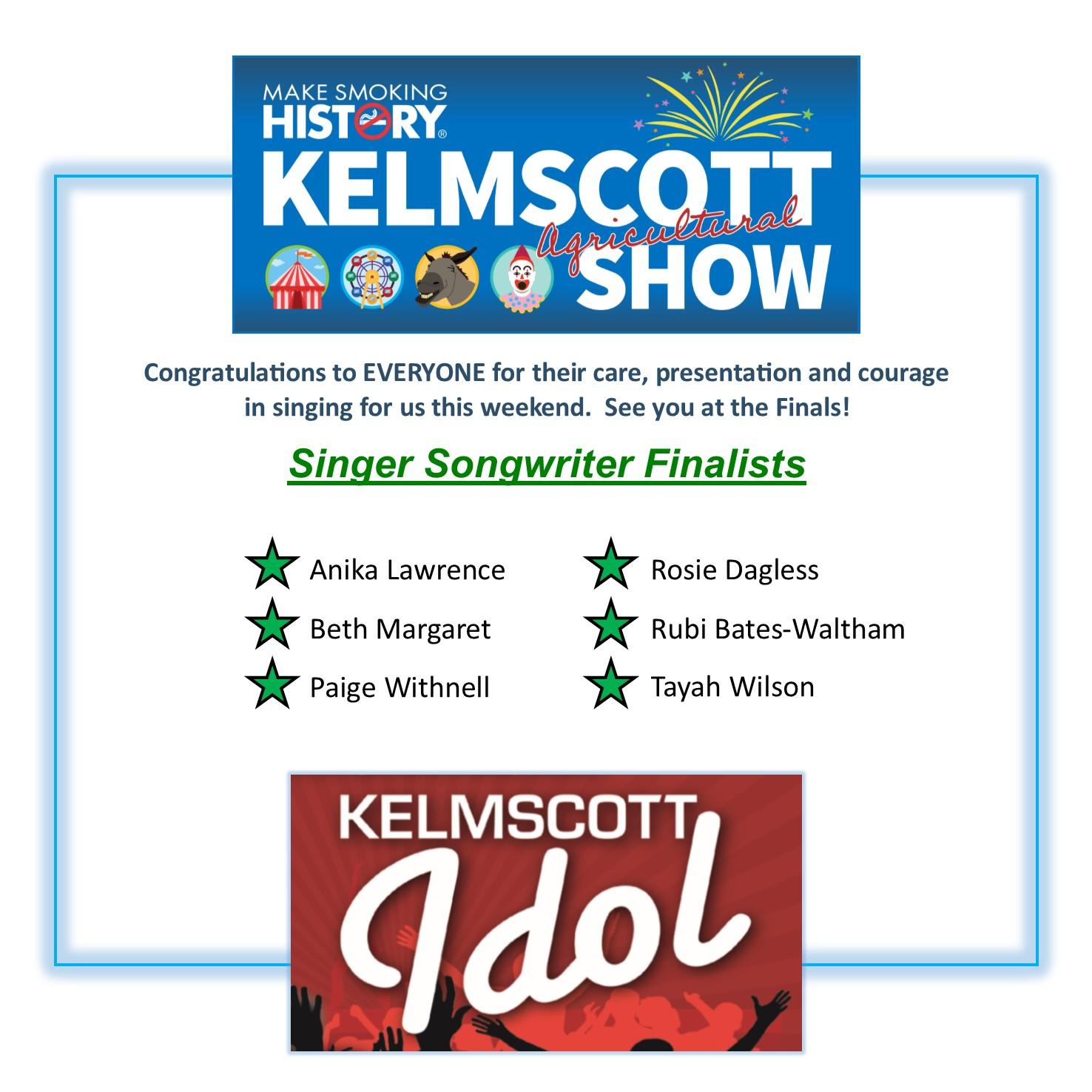 Kelmscott Idol Singer Songwriters Finalists